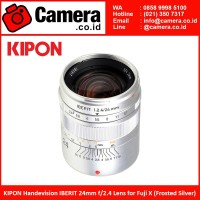 KIPON Handevision IBERIT 24mm f/2.4 Lens for Fuji X (Frosted Silver)