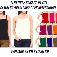 TANKTOP / SINGLET WANITA tank top basic polos fashion