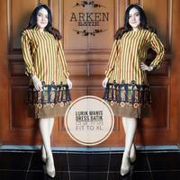 Dress batik motif lurik manis