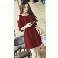 Atasan Baju Wanita Midi Dress Korean Style yang Kekinian