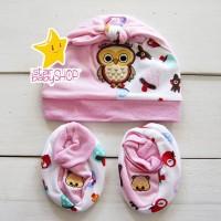 Topi Bayi Kaos Kaki Bayi Sepatu Bayi Set Newborn