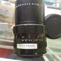 lensa tele fix manual tajam Pentacon 135mm f2.8 mount Canon