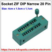 Harga 20pin socket zif narrow soket ic 20 pin dip   Pembandingharga.com