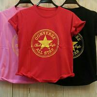 Baju Kaos Wanita Motif Converse Murah