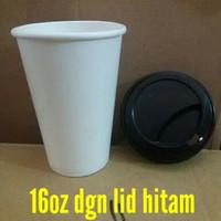 Paper cup hot 16oz+Tutup / 16 oz PC dgn Lid PC