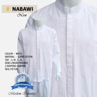 Baju Koko Lengan Panjang, Baju Koko Gaul, Baju Koko Putih - New Nabawi