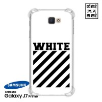 Off White Casing Samsung Galaxy J7 Prime Anti Crack Anticrack Case HP