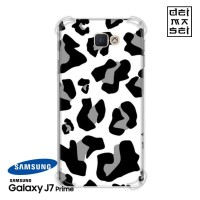 White Leopard Skin Casing Samsung Galaxy J7 Prime Anti Crack Case HP