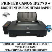 Printer Canon IP2770 IP 2770 Inkjet + PLUS INFUS BOX HITAM TUTUP RAPIH