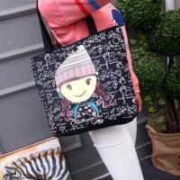 TC20 Black Canvas Tote Bag / Tas Selempang