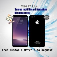 Garskin HP VIVO V7 Plus Motif Iphone Black - motif bisa request