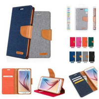 Canvas Diary Case SAMSUNG GALAXY J7+ PLUS 2017 Dompet Hp Cover Hp Flip