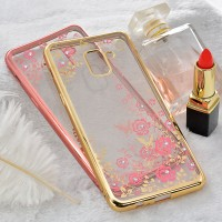 Case Samsung A6 - A6 Plus soft casing hp cover ultra thin TPU FLOWER