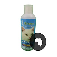 advance 8 oz (237 ml) cat snow white shampoo