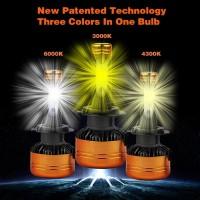 LAMPU LED NINJA H7 | LAMPU H7 TIGA WARNA | LED H7 TRIPLE COLOR GARANSI