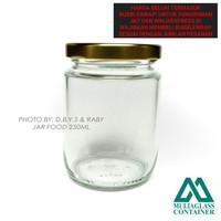 Jar / Botol / Toples Kaca tutup Seng Emas