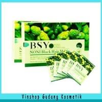 Baru BSY Noni BPOM black hair shampo 1 Box 20 saset - Shampo Diskon
