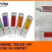 Colokan Terminal Listrik USB 2.1A Charger Adapter - Travel EU Power