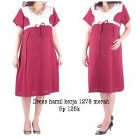 Dress Hamil Baju Kerja Untuk 1278 Merah Murah Bayi AFB2463