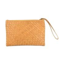 Clutch Anyam Antik Tan - Kenes Leather Bag