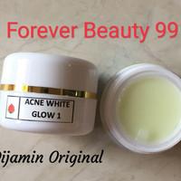 Acne White Glow Cream 1 - krim malam jerawat dengan pencerah