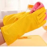 New Sarung Tangan Karet/Gloves untuk Cuci Piring Berkebun (WN27)