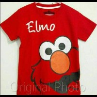 Kaos Anak Size 1-6 Elmo Muka Merah |Baju Anak Karakter Sesame Street
