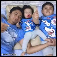 Baju Setelan Anak Shark Stelan Pakaian Anak Bayi Keren Murah Maruno -