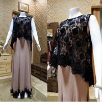 Gaun mewah /baju pesta /gaun anggun /Dress creme brokat