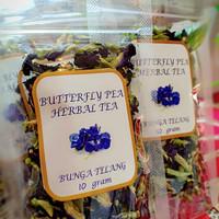 bunga telang butterfly pea flower bluepea plower teh herbal .isi 10 gr
