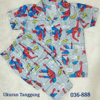 Spiderman Komik Piyama Anak Tanggung 036-888 Abu abu
