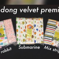 Velvet Junior Bedong Bayi / Kain Bedong Bayi Isi 3pc - Mix Rabbit