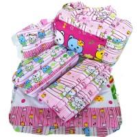 Tas Bantal Guling Gendongan Bayi Alas Tidur Perlak Bayi Set 4 in 1