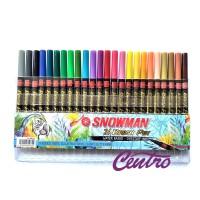 Snowman Brushpen Brush Pen Kuas Set 24 warna BM-24 Lettering Doodle