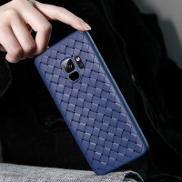 WOVEN case Samsung A8 - A8 Plus 2018 softcase casing cover tpu leather