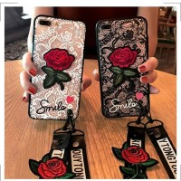Softcase 3D Bunga Mawar Merah Casing iPhone X 5 5s 6 6s 7 8 Plus