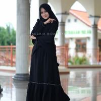 Gamis Aliya by Adzkia hijab syar'i original (Hitam)