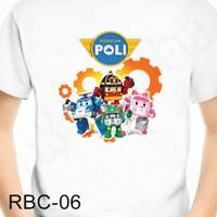 Kaos Anak Robocar Poli (RBC-06)/ Kaos Robocar Poli untuk Bayi /Anak