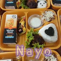 Mika bento 4 sekat/Box bento/Mika lunch box/Food container