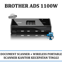 Brother ADS 1100W Compact Document Scanner + Wireless and Portable