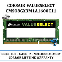 Corsair RAM Memory DDR3 1x 8GB for Notebook/laptop CMSO8GX3M1A1600C11