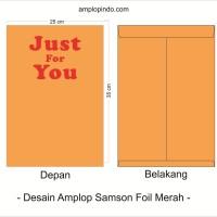 Amplop Folio | Cetak Foil | Samson 80 gsm