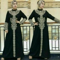 Jual Abaya Saudi Bordir Turki Gamis Abaya Modern Plus Pashmina Free ongkir Murah