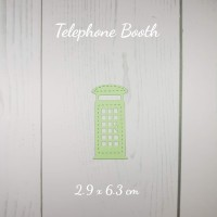 TELEPHONE BOOTH - Die Cut Bahan Scrapbook Mahar