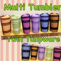 Tempat Minum Bertali / Botol Minum / Multi Tumbler Twin Tulipware