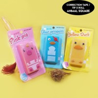 TIP EX Roll / Tip X Roll / Correction Tape - ANIMAL SQUARE