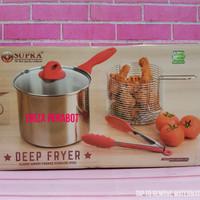 Supra Deep Fryer 20 CM Panci Goreng Kentang Multi Fryer Penggorengan