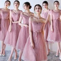 BRDMU Y Paket 4 pc Gaun Baju Pengapit Pengantin Usher Bridesmaid Dress