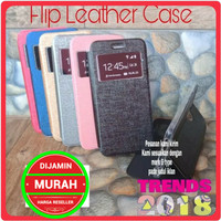 Samsung Galaxy J7 Duo Flip Cover Leather Case Sarung Buka Tutup HP