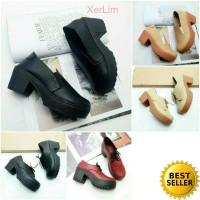 Sepatu boots heels wanita sneakers wedges cewek murah vintage docmart